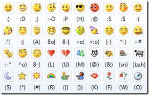 emoticon msn 2011