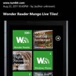 Wonder reader 2.0 for Windows Phone Mango now available