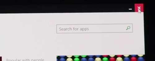 Windows 8.1 Update Close button screenshot