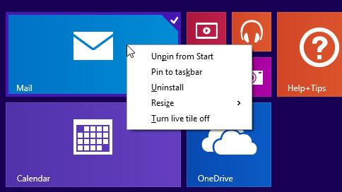 Windows 8.1 update right click