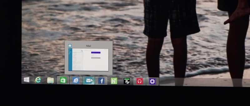 Windows 8.1 Update Taskbar screenshot